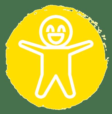 Fun yellow circle icon